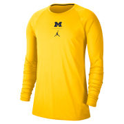 Jordan University of Michigan Football Maize J23 Alpha Dry Long Sleeve Tee