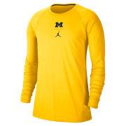 Jordan University of Michigan Football Maize J23 Alpha Dry Long Sleeve Tee