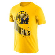 Jordan University of Michigan Basketball Maize Retro Logo Tee