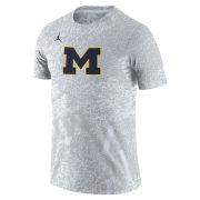 Jordan University of Michigan Football White Dri-FIT Performance Practice Tee