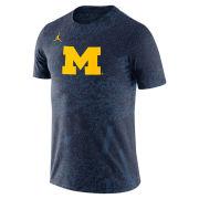 Jordan University of Michigan Football Navy Dri-FIT Performance Practice Tee