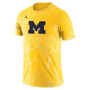 Jordan University of Michigan Football Maize Dri-FIT Performance Practice Tee