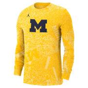 Jordan University of Michigan Football Maize Long Sleeve Dri-FIT Performance Practice Tee