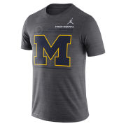 Jordan University of Michigan Football Anthracite Velocity Sideline Dri-FIT Legend Tee