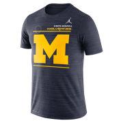 Jordan University of Michigan Football Navy Velocity Sideline Dri-FIT Legend Tee