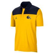 Jordan University of Michigan Football Maize/Navy 2021 Sideline Dri-FIT Polo