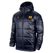 Jordan University of Michigan Football Navy Sideline Midweight Jacket