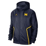 Jordan University of Michigan Football Navy Lightweight Woven Full Zip Jacket