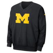 Nike University of Michigan Black Stadium Pullover Windshirt