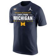 Jordan University of Michigan Football Orange Bowl ''100% Pure'' Navy Tee