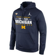 Jordan University of Michigan Football Orange Bowl ''100% Pure'' Navy Therma-FIT Hooded Sweatshirt