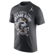 Jordan University of Michigan Football Orange Bowl Anthracite Helmet Tee