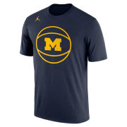 Jordan University of Michigan Basketball Navy Dri-FIT Legend Graphic Tee