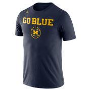 Jordan University of Michigan Basketball Navy ''Go Blue'' Tee