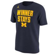 Jordan University of Michigan Navy Short Sleeve Winner Stays Tee