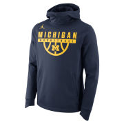 Jordan University of Michigan Basketball Navy Elite Therma-FIT Hooded Sweatshirt