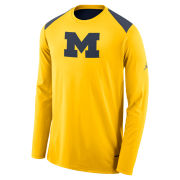 Jordan University of Michigan Basketball Long Sleeve Dri-FIT Shooting Shirt