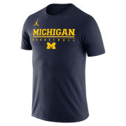 Jordan University of Michigan Basketball Navy Dri-FIT Legend Practice Tee