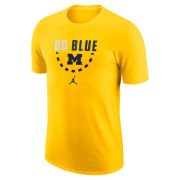 Jordan University of Michigan Basketball Maize Team Issued Tee