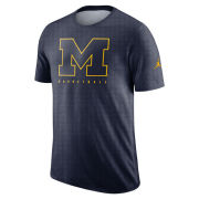 Jordan University of Michigan Basketball Navy Player Dri-FIT Cotton Slub Tee