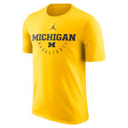 Jordan University of Michigan Basketball Maize ''Key'' Dri-FIT Legend Tee