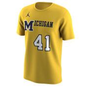 26023323ebf Jordan University of Michigan Basketball Maize 1989 Throwback Jersey Tee