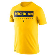 Jordan University of Michigan Basketball Maize Dri-FIT Legend Practice Tee