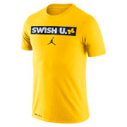 Jordan University of Michigan Basketball Maize ''Swish U'' Dri-FIT Cotton Tee