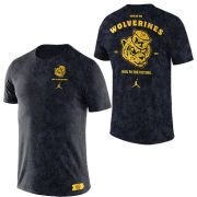 Jordan University of Michigan Basketball Navy ''Brushstroke'' College Vault Wolverine Tee