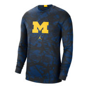 Jordan University of Michigan Basketball Navy Spotlight Long Sleeve Dri-FIT Shooting Shirt