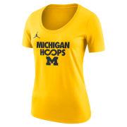Jordan University of Michigan Basketball Women's Maize ''Hoops'' Infinity Tee