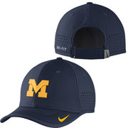 Nike University of Michigan Football Navy Vapor Sideline Coaches Hat