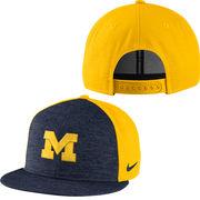 Nike University of Michigan Yellow Flyknit True Flat Brim Snapback Hat