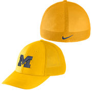 Nike University of Michigan Yellow Meshback Swooshflex Hat
