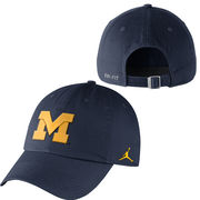 Jordan University of Michigan Navy Unstructured Authentic Dri-FIT Hat