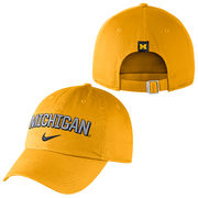 Nike University of Michigan Yellow Heritage86 Unstructured Hat