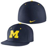 Nike University of Michigan Navy True Vapor Dri-FIT Fitted Hat