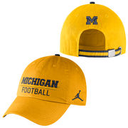Jordan University of Michigan Football Yellow Heritage Sport Hat