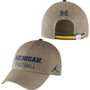 Jordan University of Michigan Football Khaki Heritage Sport Hat