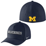 Nike University of Michigan Navy Local DNA ''Wolverines'' Dri-FIT Flex Fit Hat