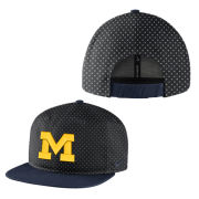 Nike University of Michigan Black Local DNA True Flat Brim Snapback Hat