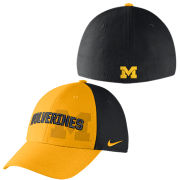 Nike University of Michigan Yellow/ Black ''Wolverines'' Classic99 Dri-FIT Swoosh Flex Hat