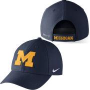 Nike University of Michigan Navy Classic99 Dri-FIT Structured Hat