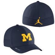 Jordan University of Michigan Football Navy Vapor Sideline Dri-FIT One Size Flex Fit Hat