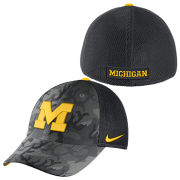 Nike University of Michigan Classic99 Anthracite Camouflage Meshback Flex Fit Hat