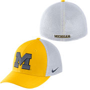 Nike University of Michigan Yellow and White Aerobill Meshback Swooshflex Hat