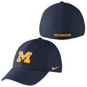 Nike University of Michigan Navy Classic99 Dri-FIT Swoosh Flex Hat