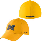 c2181c8075a Nike University of Michigan Yellow Classic99 Dri-FIT Swoosh Flex Hat