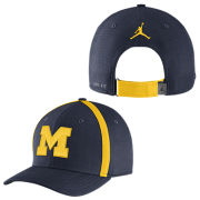 Jordan University of Michigan Football Navy Aerobill Sideline Coaches Dri-FIT Hat