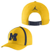 Jordan University of Michigan Football Yellow Aerobill Sideline Coaches Dri-FIT Hat